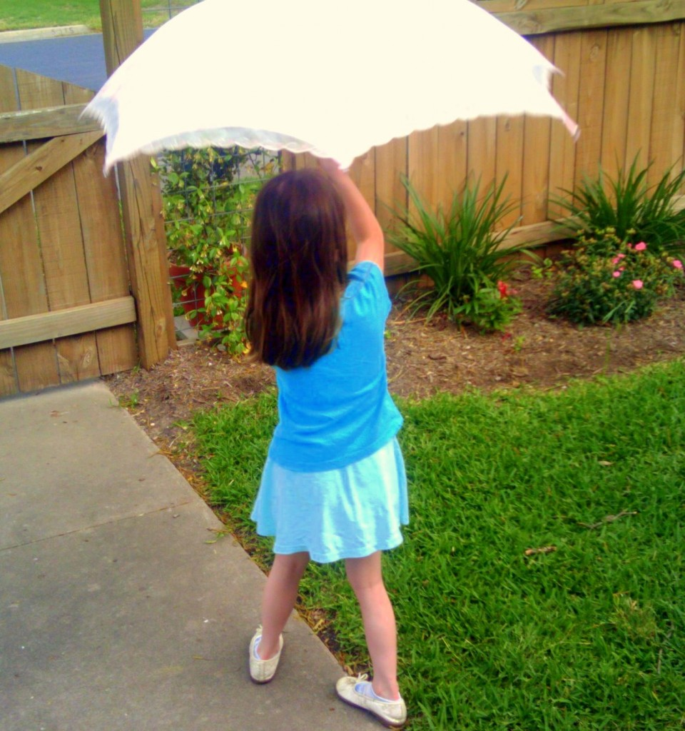 I told her it was a princess umbrella