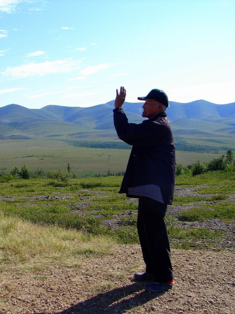 Gwich'in Elder explaining the midnight sun (at a rest stop)