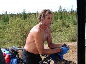 crazy guy on a bike
