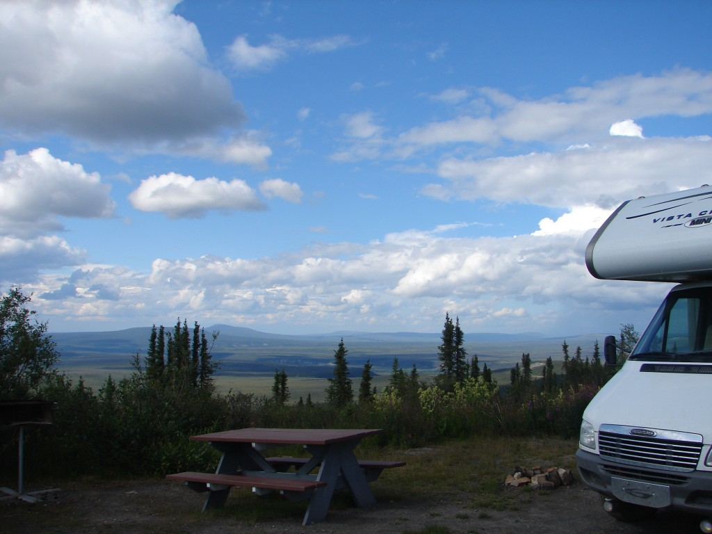 camping at the arctic circle