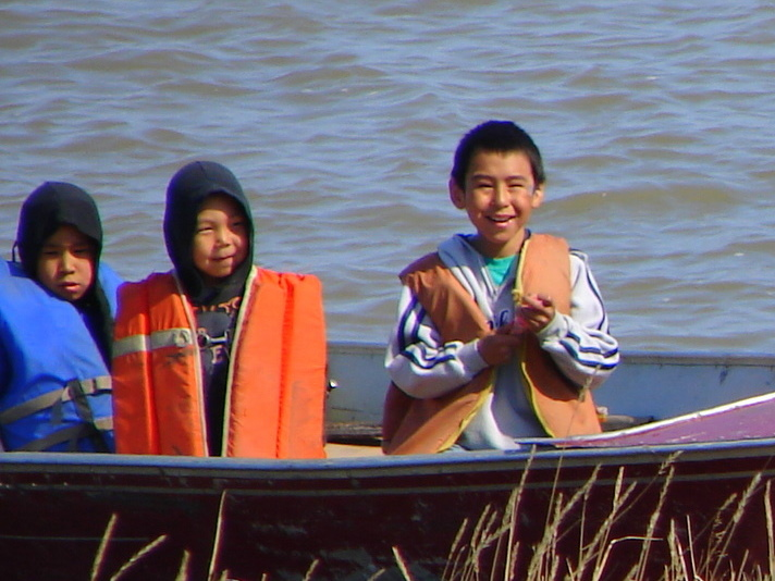 Inuvialuit boys going fishing