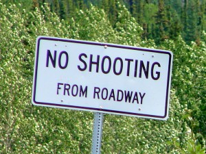 no shooting from roadway